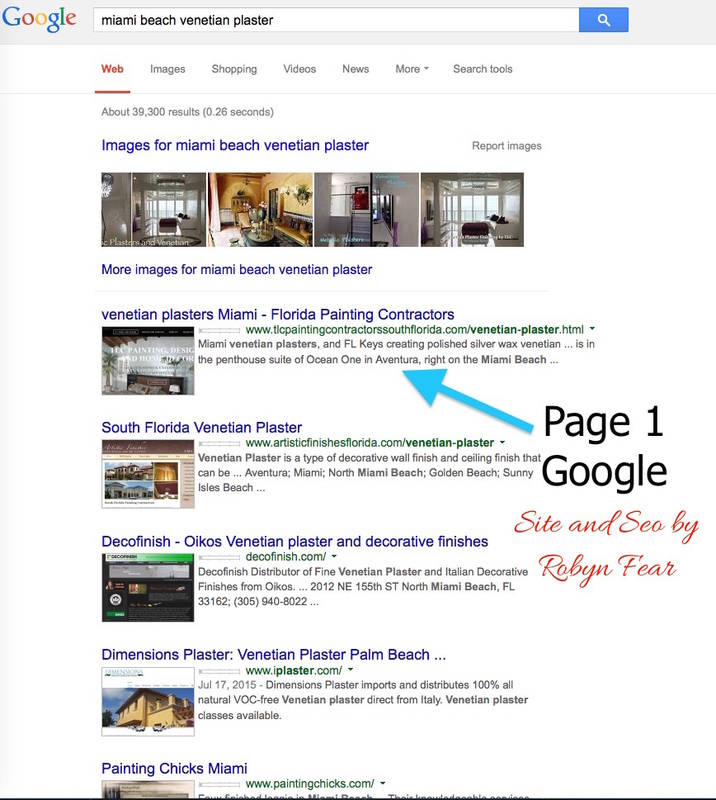 Page 1 SEO for Google