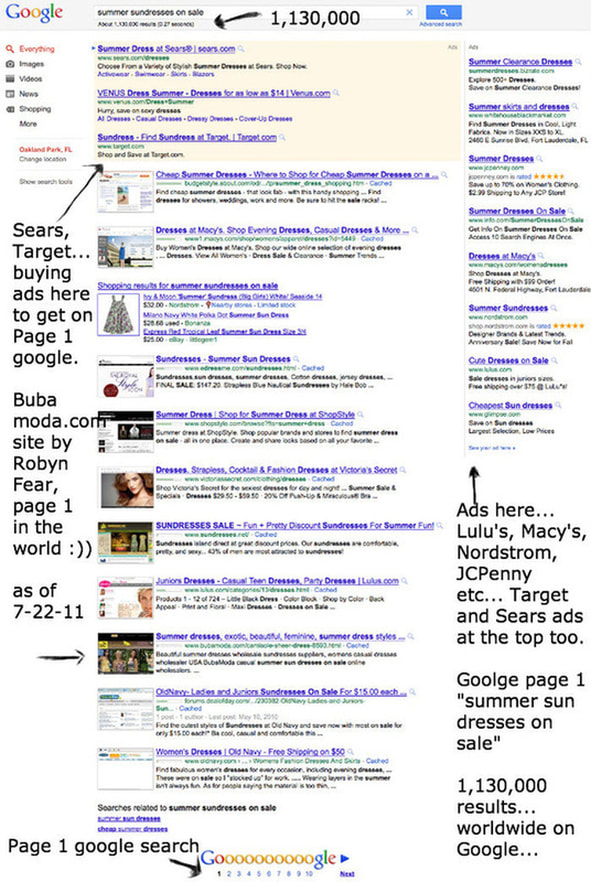 Google seo for page 1