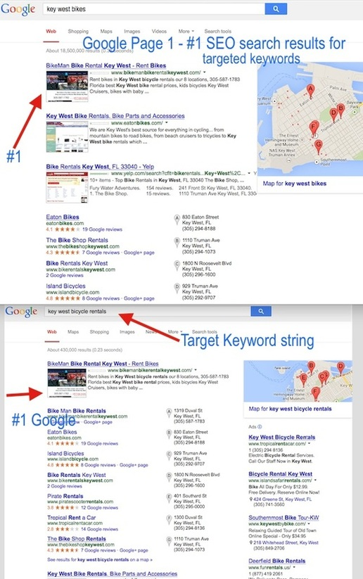Tope Seo results on Google