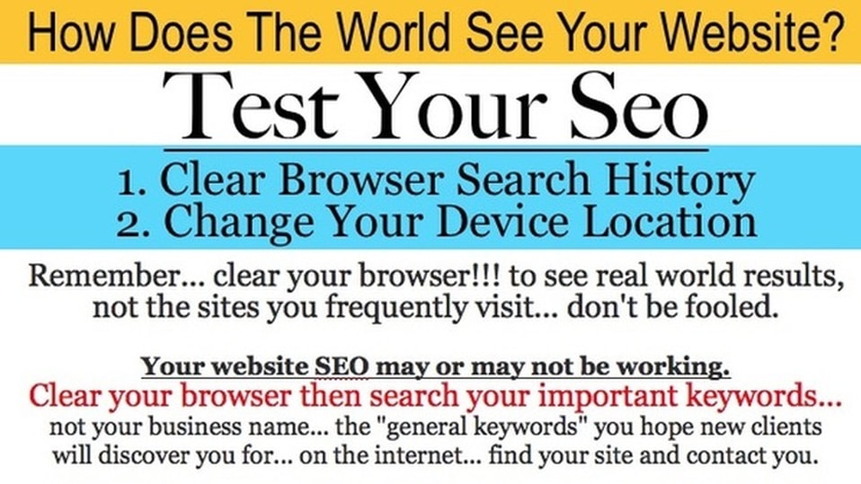 Test your seo